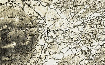 Old map of Symington in 1904-1905