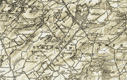 Old map of Wester Croft in 1905-1906