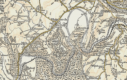 Old map of Symonds Yat in 1899-1900