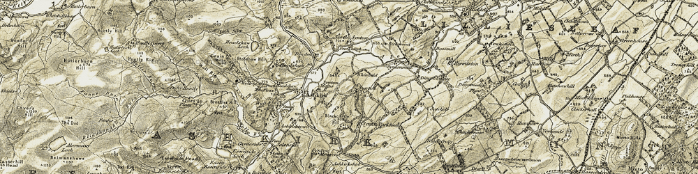 Old map of Whinfield in 1901-1904
