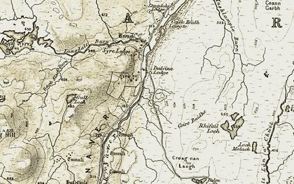 Old map of Back Slack Burn in 1910-1912