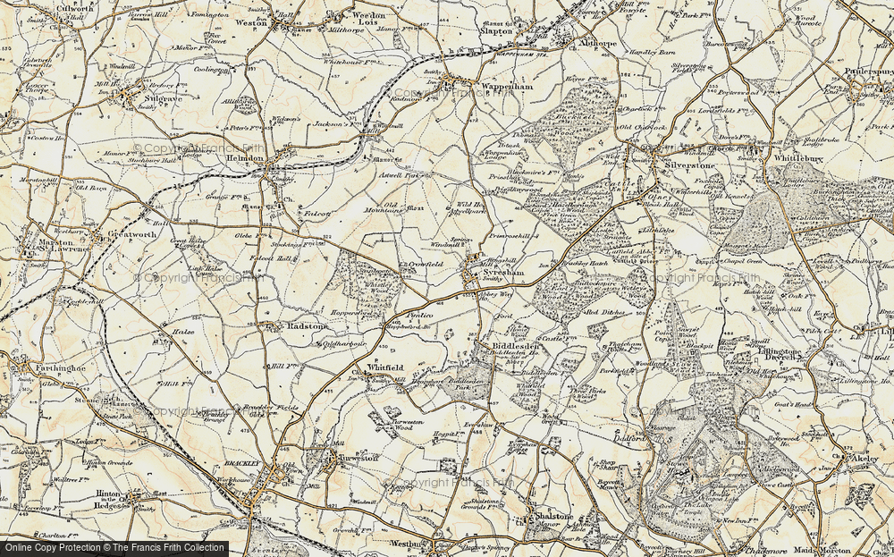 Old Map of Historic Map covering Abbey Way Ho in 1898-1901