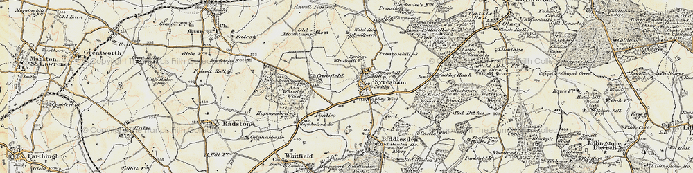 Old map of Abbey Way Ho in 1898-1901