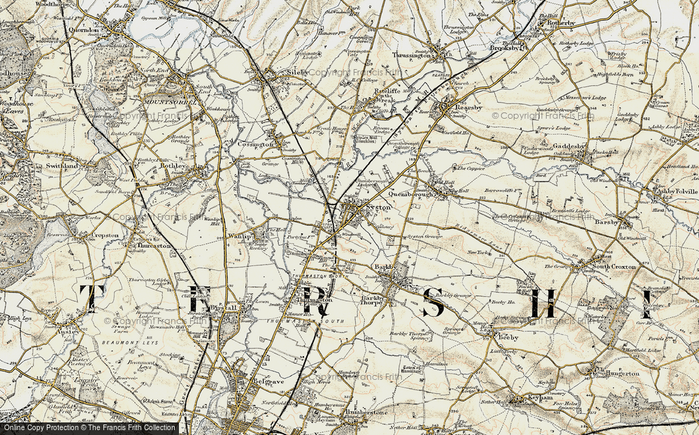 Old Map of Historic Map covering Barkby Lodge in 1902-1903
