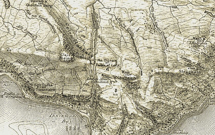 Old map of Allt Srath Shuardail in 1906-1908
