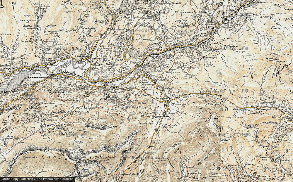 Old Map of Historic Map covering Afon Clywedog in 1902-1903