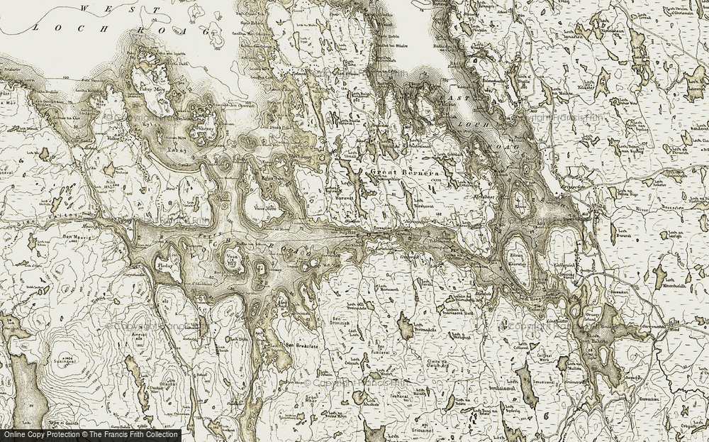 Old Map of Historic Map covering Àird Iarsiadar in 1911