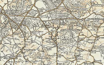 Old map of Tadley in 1897-1900