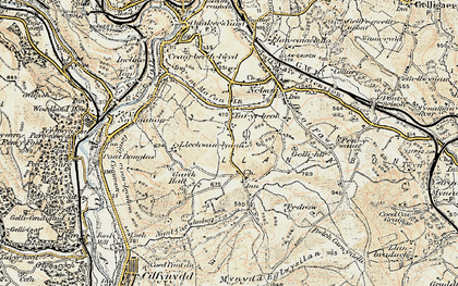 Old map of Whitehall in 1899-1900