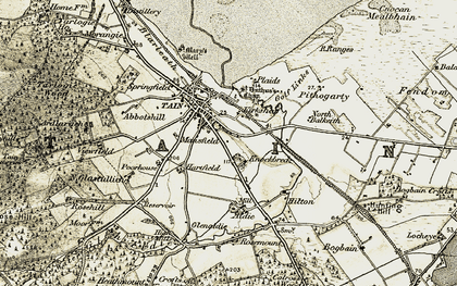 Old map of Aldie in 1911-1912