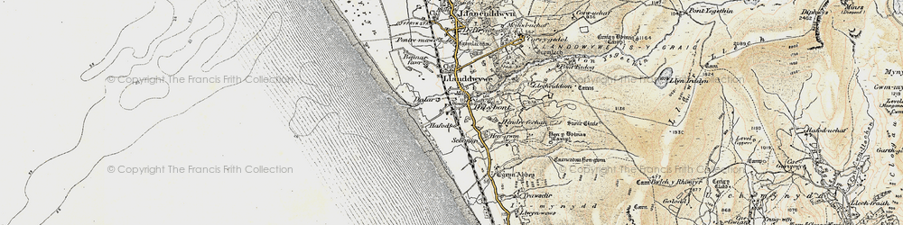 Old map of Tal-y-bont in 1902-1903