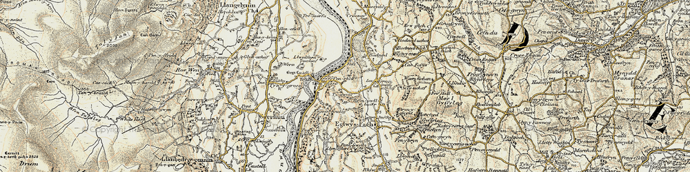 Old map of Tal-y-cafn in 1902-1903