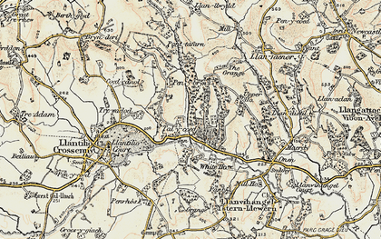 Old map of Ash Grove in 1899-1900