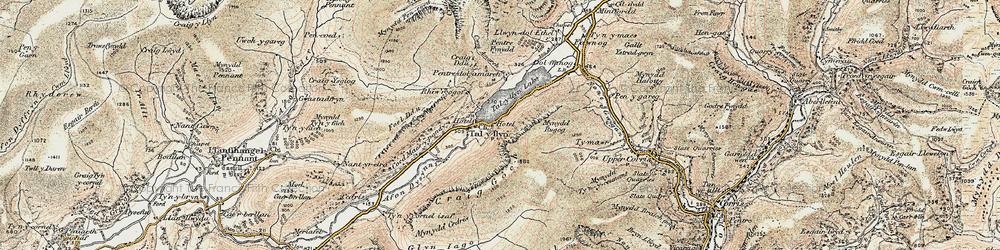 Old map of Tal-y-llyn in 1902-1903
