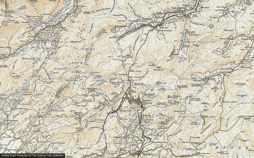 Old Map of Historic Map covering Afon Barlwyd in 1903
