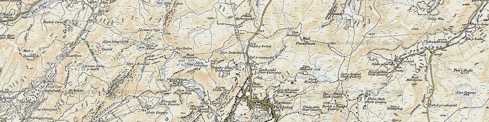 Old map of Afon Barlwyd in 1903