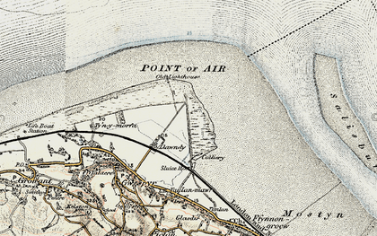 Old map of Talacre in 1902-1903
