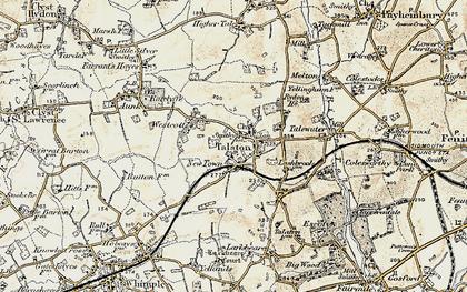 Old map of Talaton in 1898-1900