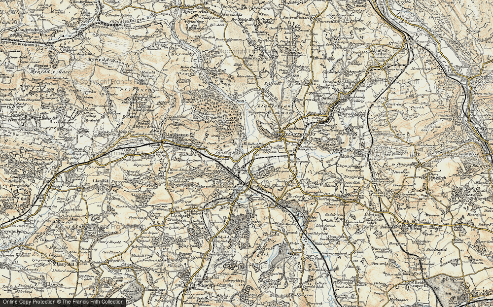 Old Map of Talbot Green, 1899-1900 in 1899-1900