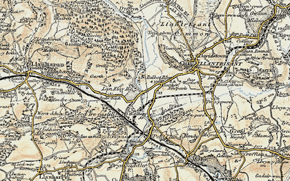 Old map of Talbot Green in 1899-1900