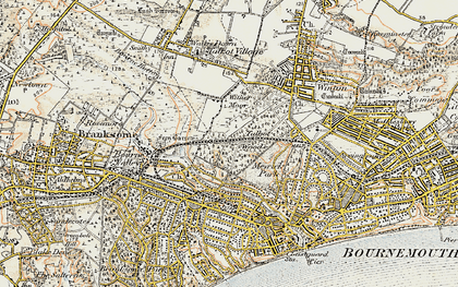 Old map of Talbot Woods in 1899-1909