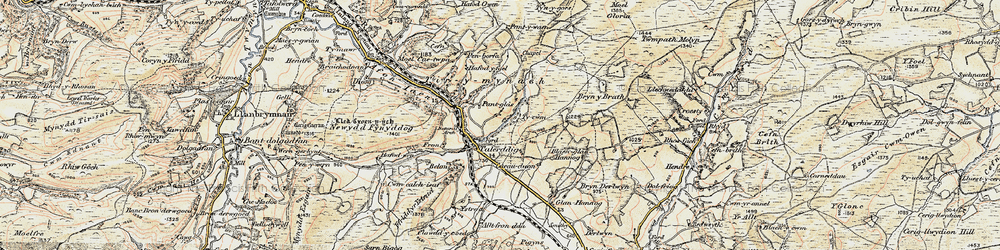 Old map of Tirymynach in 1902-1903