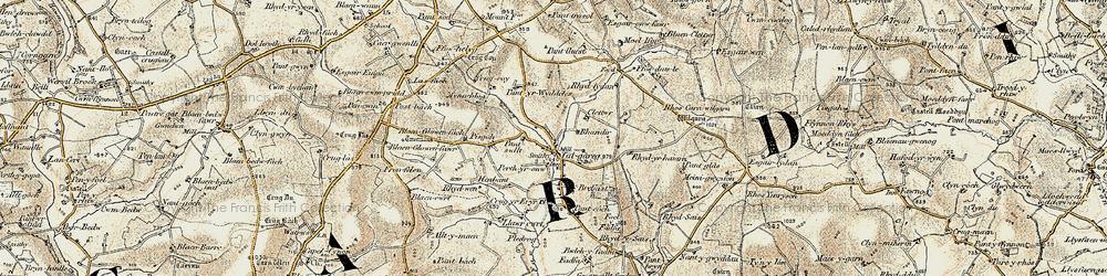 Old map of Whilgarn in 1901