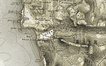Old map of Leathad Beithe in 1908-1909