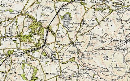 Old map of Talkin in 1901-1904