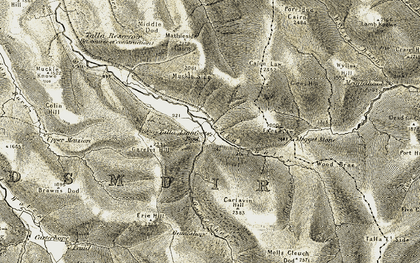 Old map of Wylies Hill in 1904