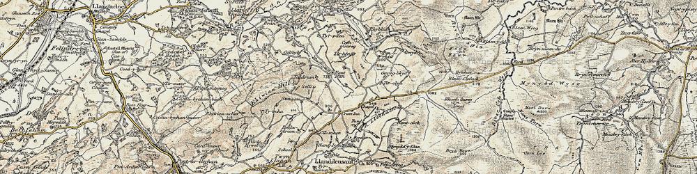 Old map of Tirpaun in 1900-1901