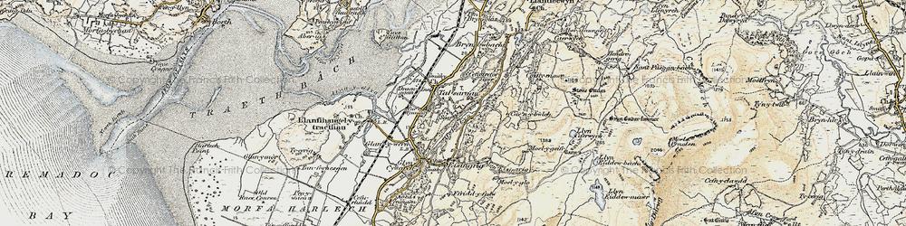 Old map of Talsarnau in 1903