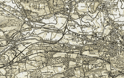 Old map of Wester Carmuirs in 1904-1907