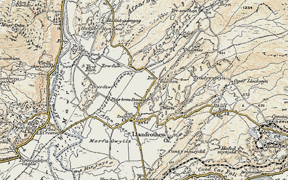 Old map of Ynys Fâch in 1903