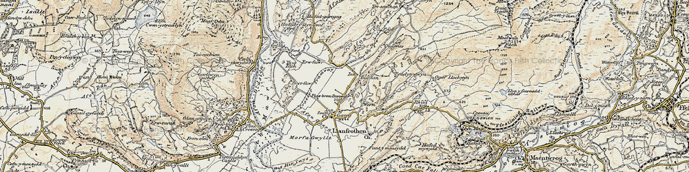 Old map of Ynys Fer-lâs in 1903