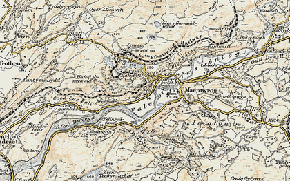 Old map of Afon Dwyryd in 1903