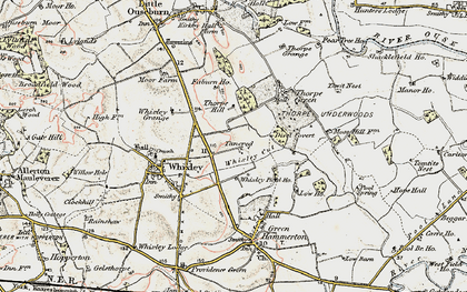 Old map of Whixley Field Ho in 1903-1904