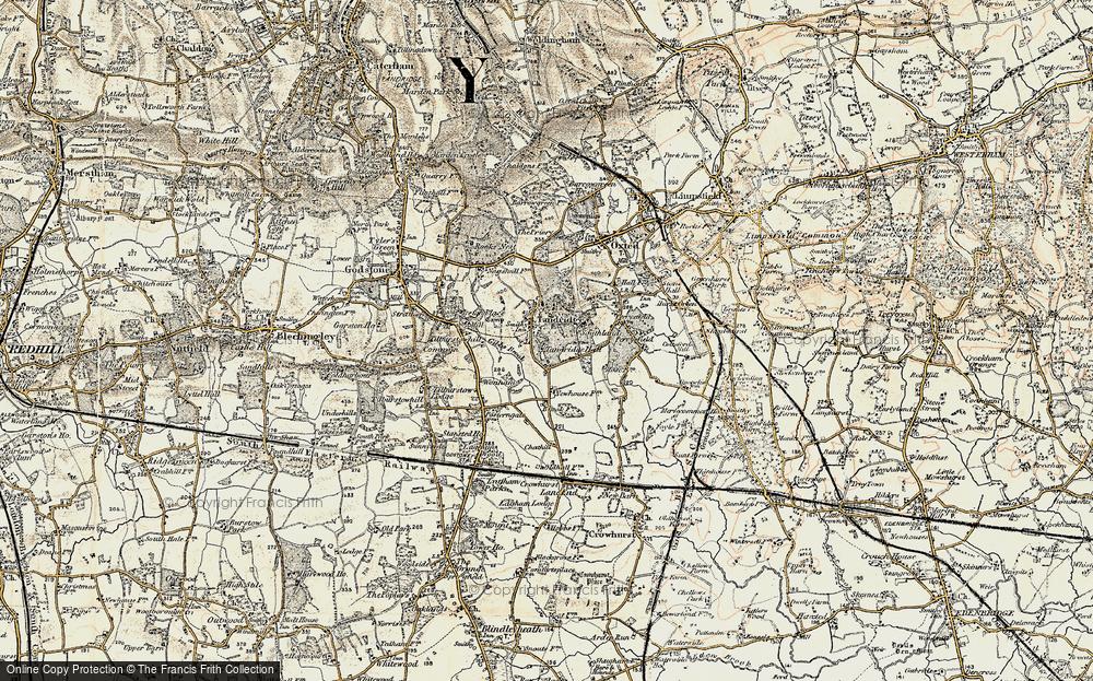 Old Map of Tandridge, 1898-1902 in 1898-1902