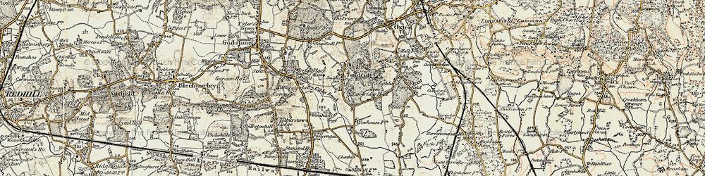 Old map of Tandridge in 1898-1902