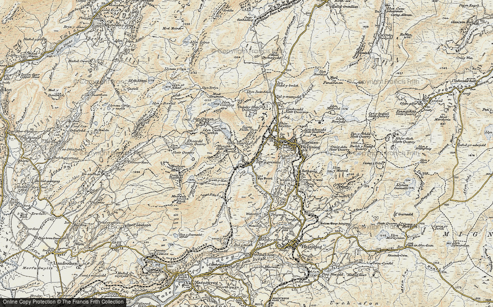Old Map of Historic Map covering Afon Stwlan in 1903