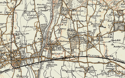 Old map of Taplow in 1897-1909