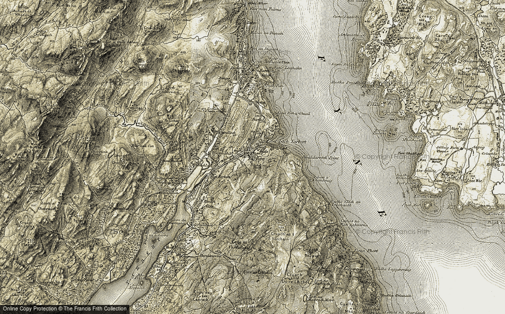 Old Map of Historic Map covering Ashens in 1905-1907