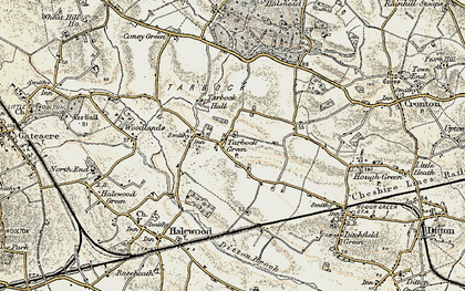 Old map of Tarbock Green in 1902-1903