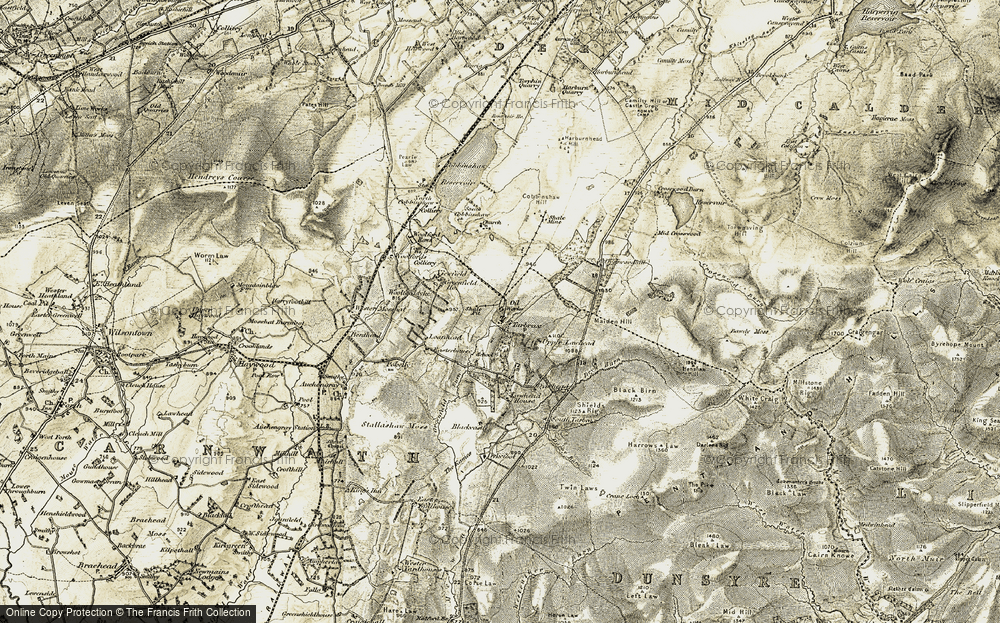 Old Map of Historic Map covering Lawhead Ho in 1904-1905