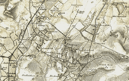 Old map of Lawhead Ho in 1904-1905