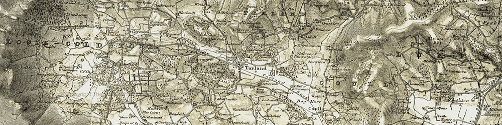 Old map of Alamein in 1908-1909