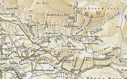 Old map of Lee Fell in 1903-1904