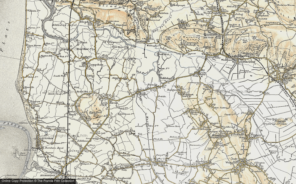 Old Map of Tarnock, 1899-1900 in 1899-1900