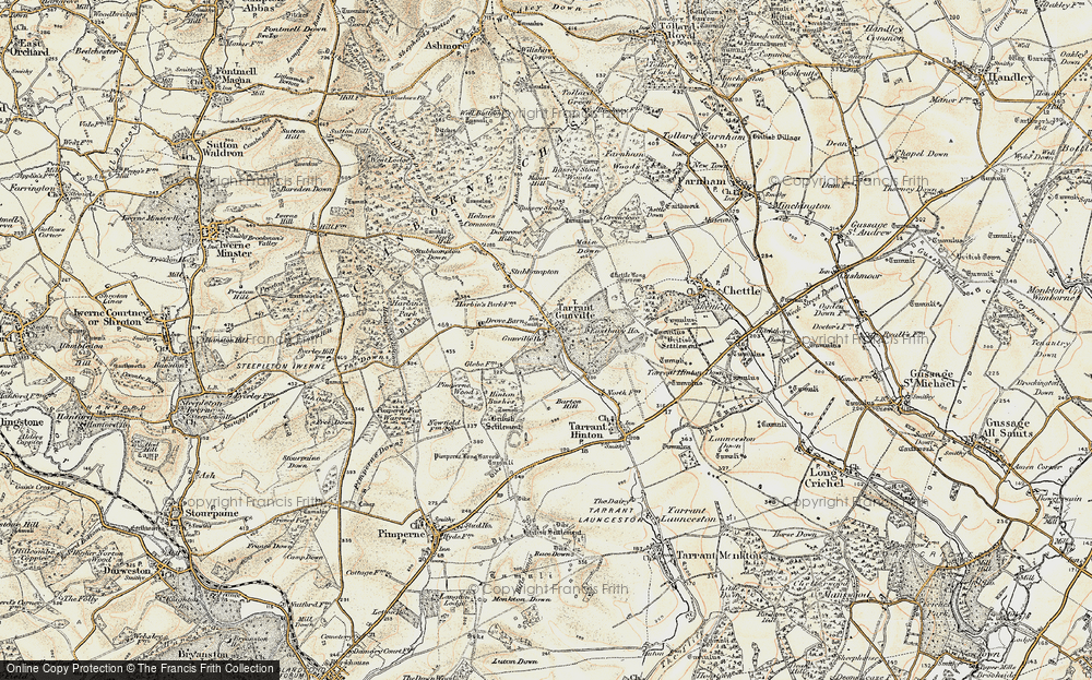Old Map of Historic Map covering White Kennels in 1897-1909