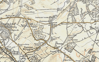 Old map of Ashley Wood in 1897-1909